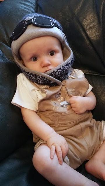 What Little E Wore - My Little Duckling Pilot Hats