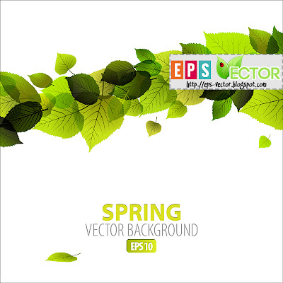 [Vector] - Spring abstract floral background