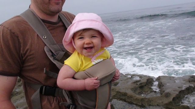 Smiling little girl at the beach