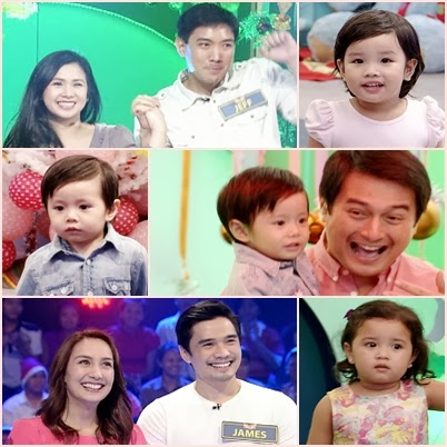 Jeff Chan and wife with baby Amara; Dominic Ochoa with baby Sandro; James Blanco and wife with baby Atalie