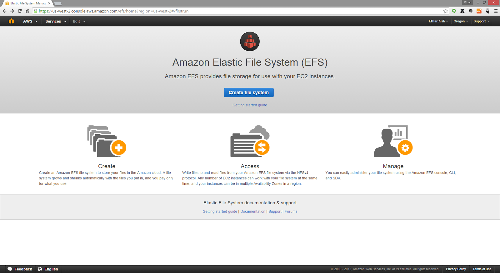 Goading the IT Geek: Fail: AWS EFS (Preview) on AWS EC2 Windows Instance