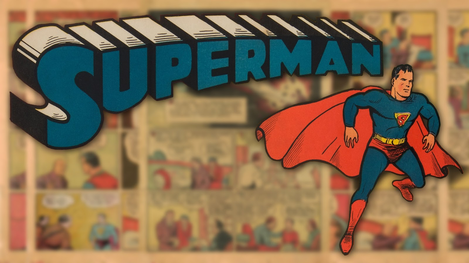 Neato Coolville: COMIC BOOK WALLPAPER: SUPERMAN Vintage Comic Book Background