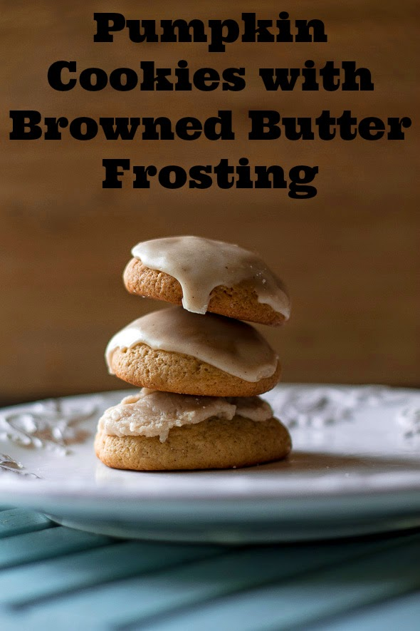 Pumpkin Cookies with Browned Butter Frosting | Foodie in WV