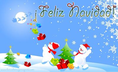 En plena Navidad los muñecos de nieve reciben sus regalos de Santa Claus y sus renos