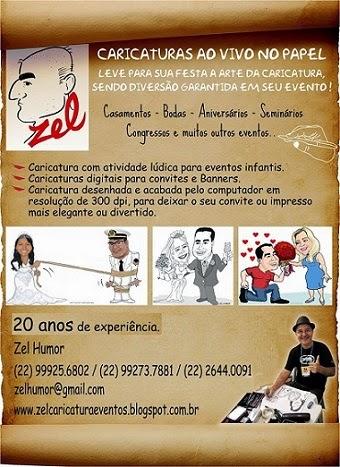 ZEL CARICATURAS AO VIVO