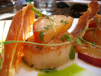 Scallops and plums at Cava, Portsmouth, NH