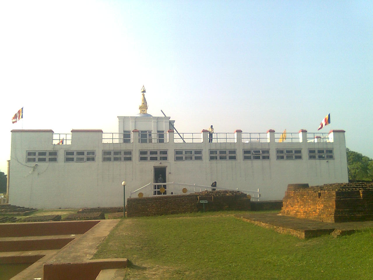 Lumbini Nepal  city photos : The White Temple of Lumbini Nepal Mayadevi Temple