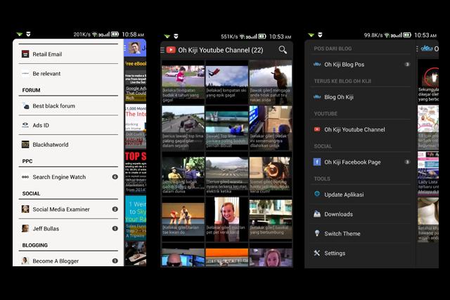 Servis buat aplikasi android untuk blog dan laman sosial anda