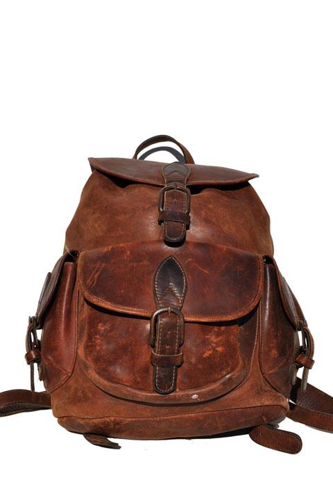 goodbye heart vintage: Vintage Leather Backpack