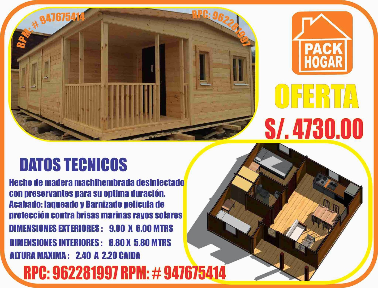 Modelos De Casas Prefabricadas Economicas Para Campo Playa En Peru