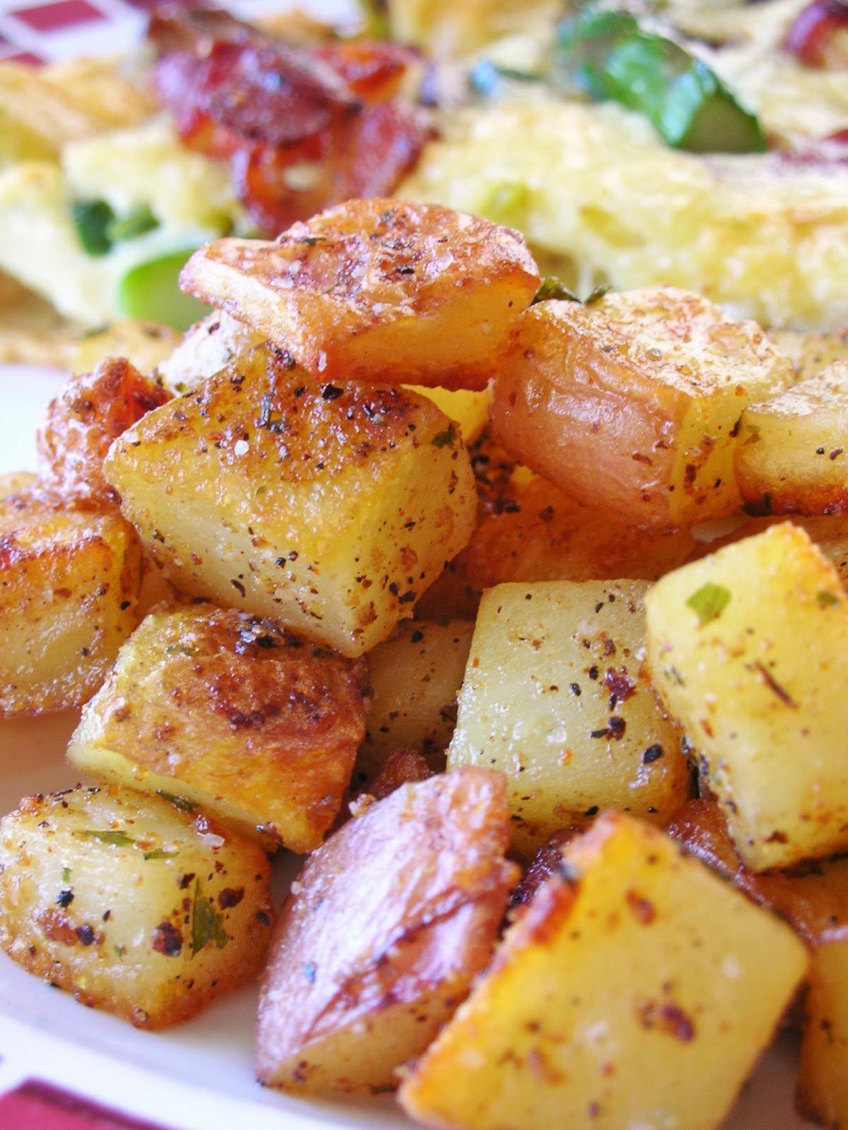 served this with delicious spicy roasted potatoes and a fried egg!