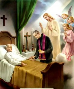Image result for pictures of anointing of the sick