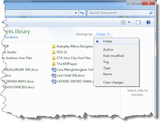 Penataan Ikon-Ikon pada Windows Explorer
