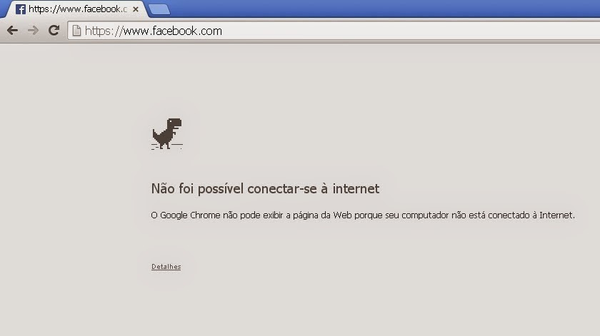 Joguinho secreto do Google Chrome