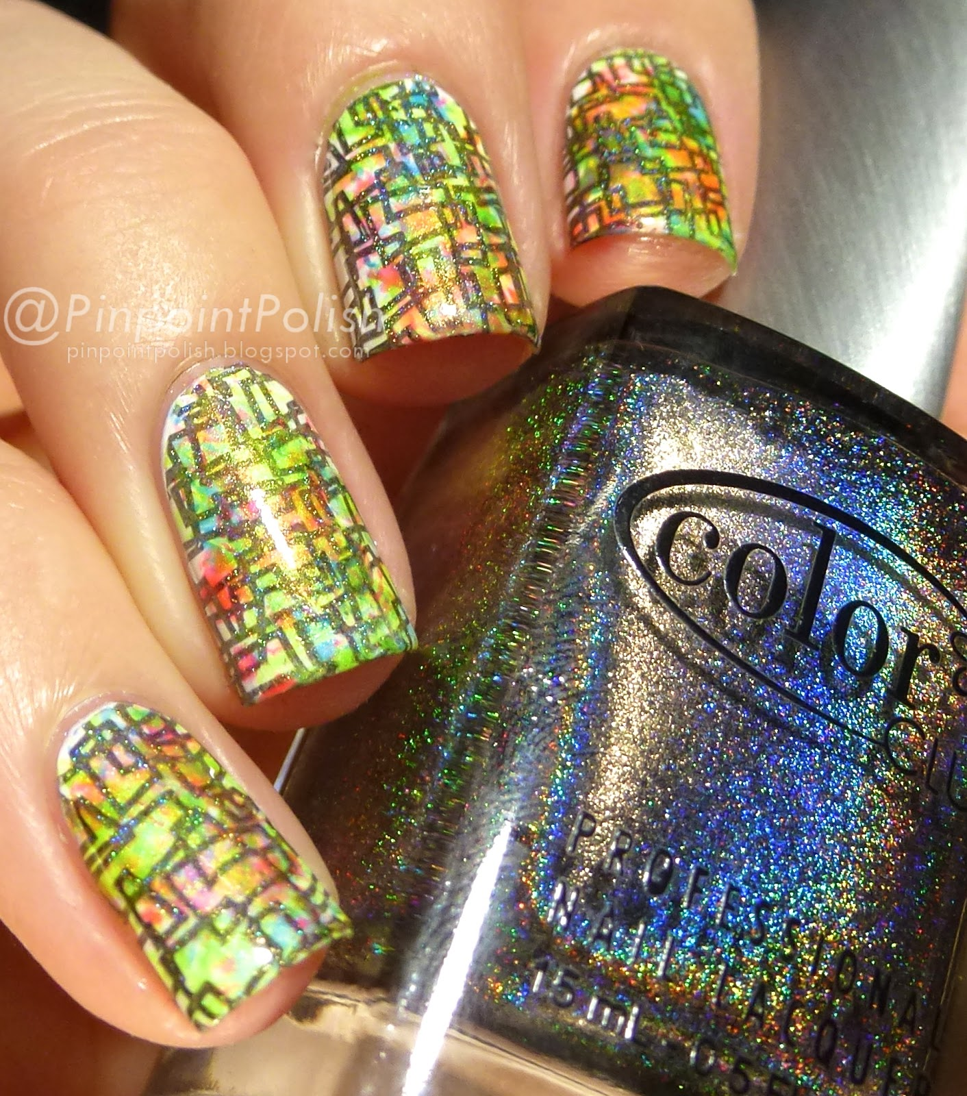 Color club Beyond, LeaLac XL-B stamping, nail art
