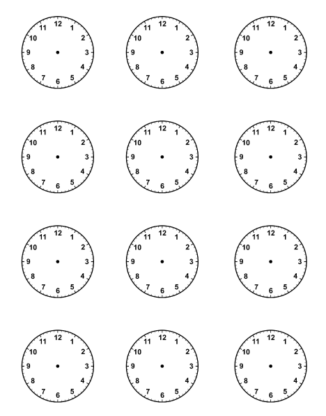 Blank Clock Face Template Some blank clock faces.