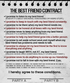 Eminem fans the best friend contract i promise to listen to my best friend even if its about weird stuff video games etc i promise to keep in touch with my best friend at all times thecheapjerseys Choice Image