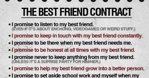 The best friend contract love quotes thecheapjerseys Gallery