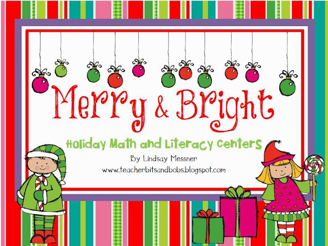 http://www.teacherspayteachers.com/Product/Merry-Bright-Holiday-Math-and-Literacy-Centers-430500