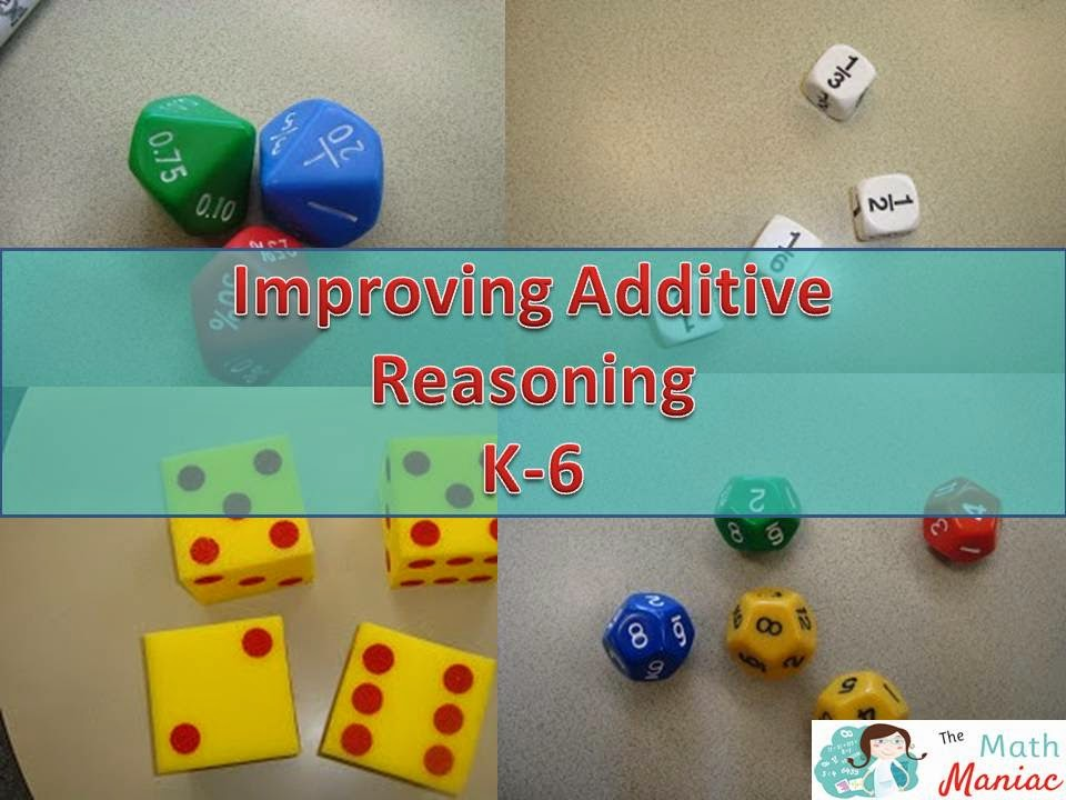 The Elementary Math Maniac: Using dice to promote fluency with ...