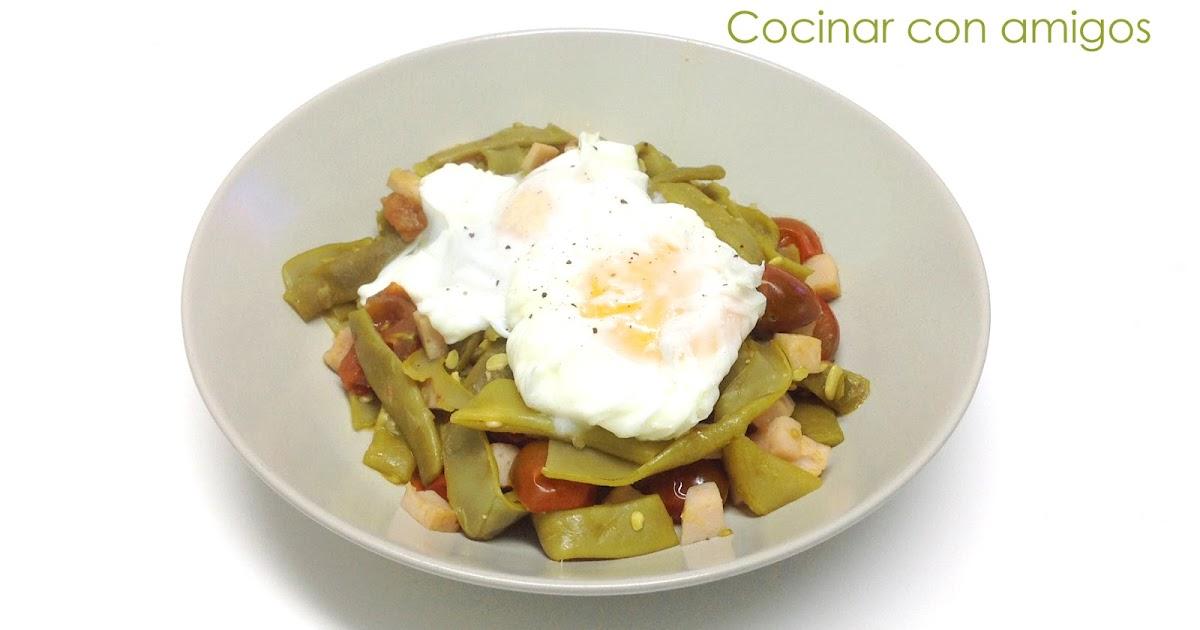 Huevos poch con jud as verdes cocinar con amigos for Cocinar judias negras