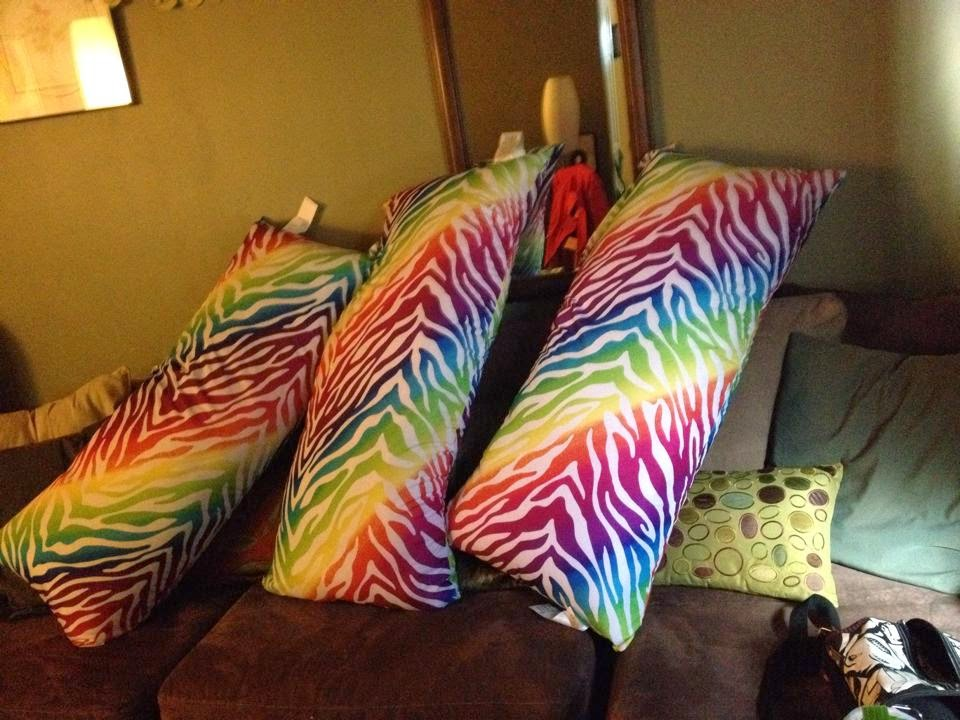 rainbow body pillows