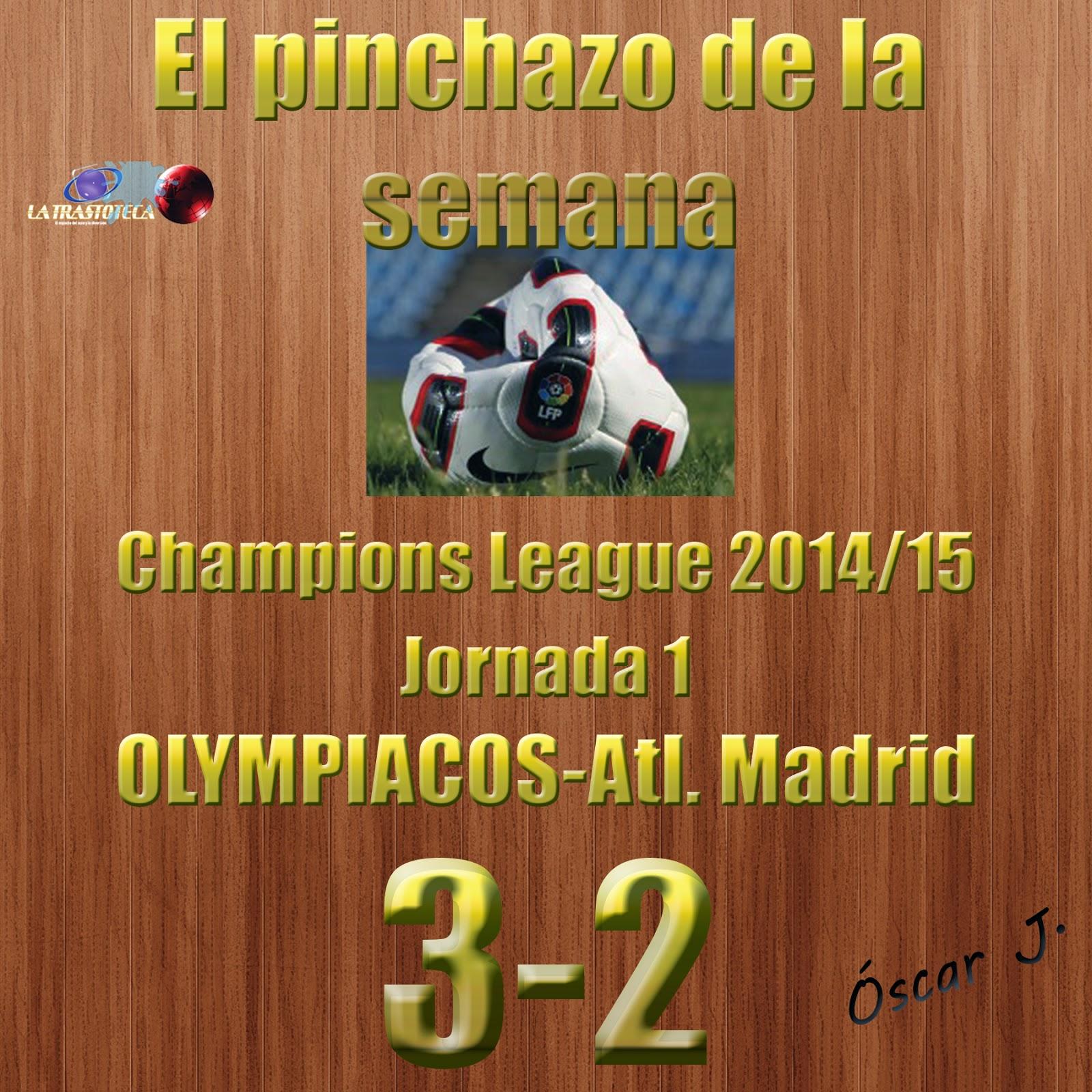 Olympiacos 3 - 2 Atl. Madrid. Jornada 1. El pinchazo de la semana