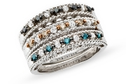 diamond stack rings