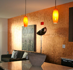 Copper-Leafed Wall At Shawn's