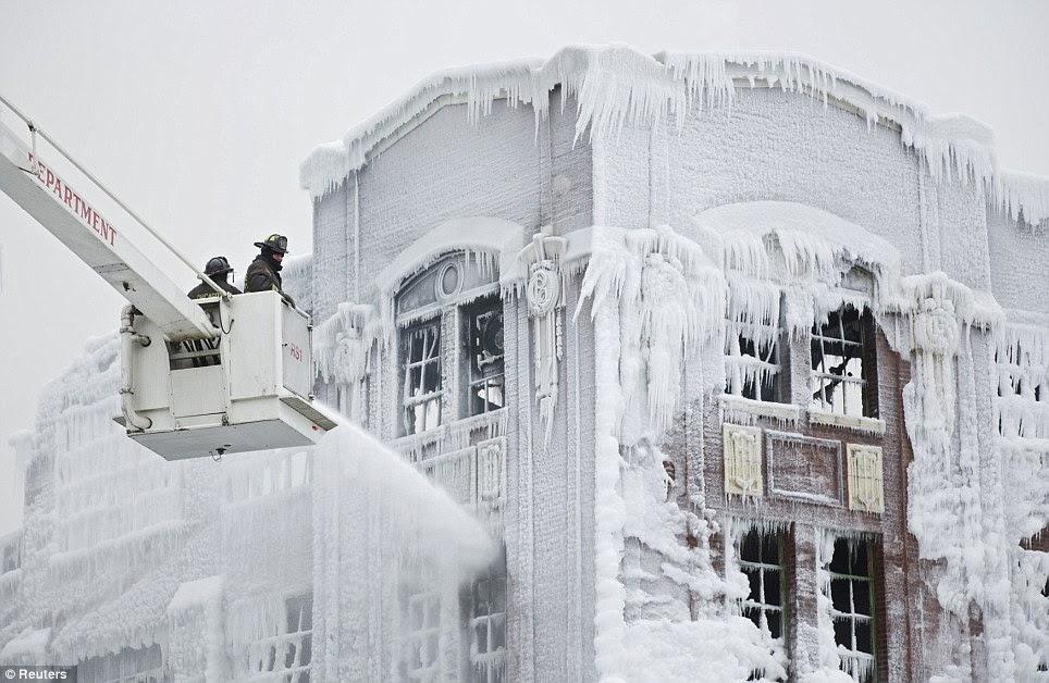 Firefighters Turn Massive Warehouse Blaze Into Ice Overnight!