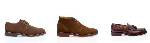 zapatos de piel y ante con descuento en massimo dutti