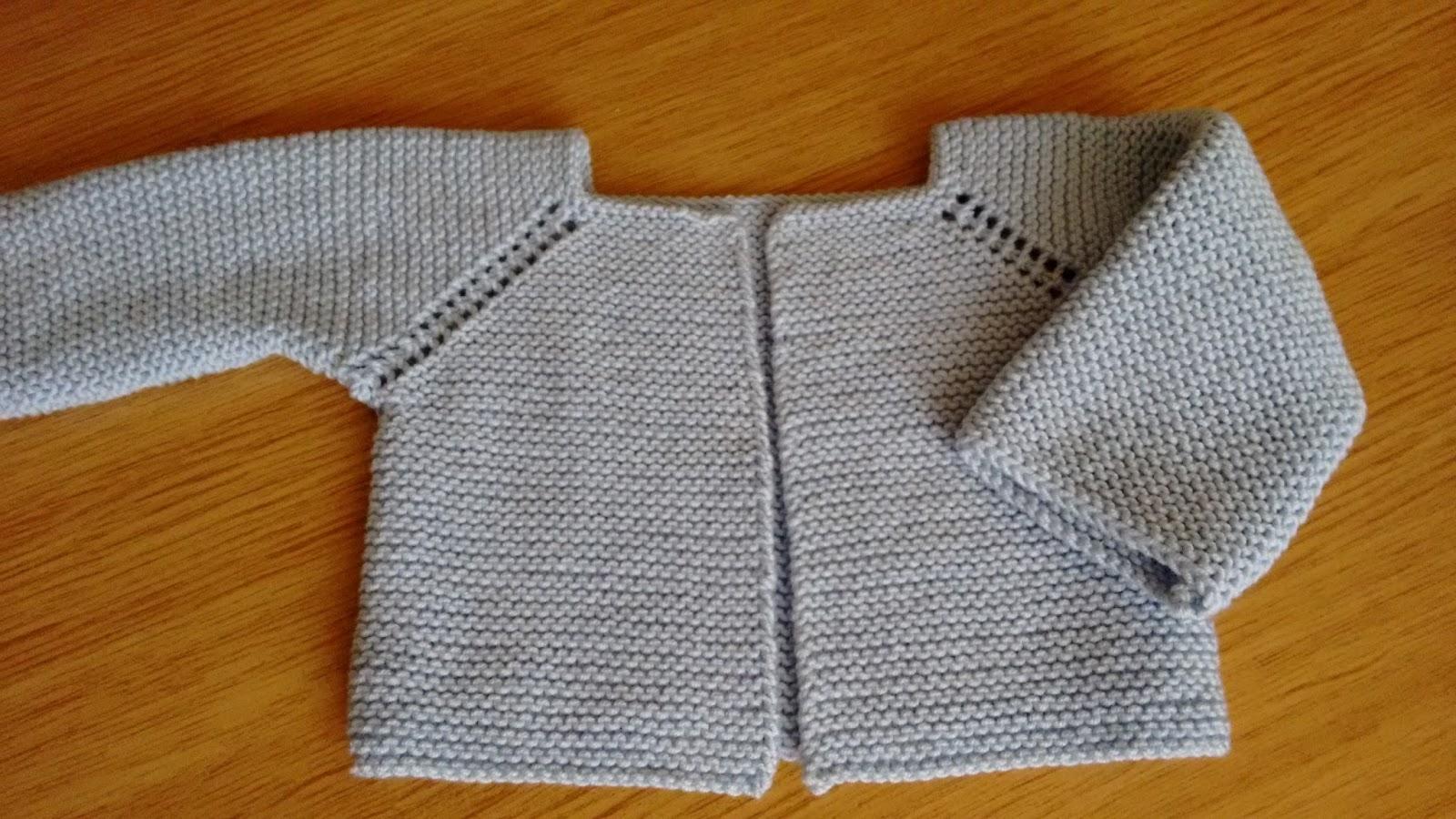 Hacer chaqueta punto bebe