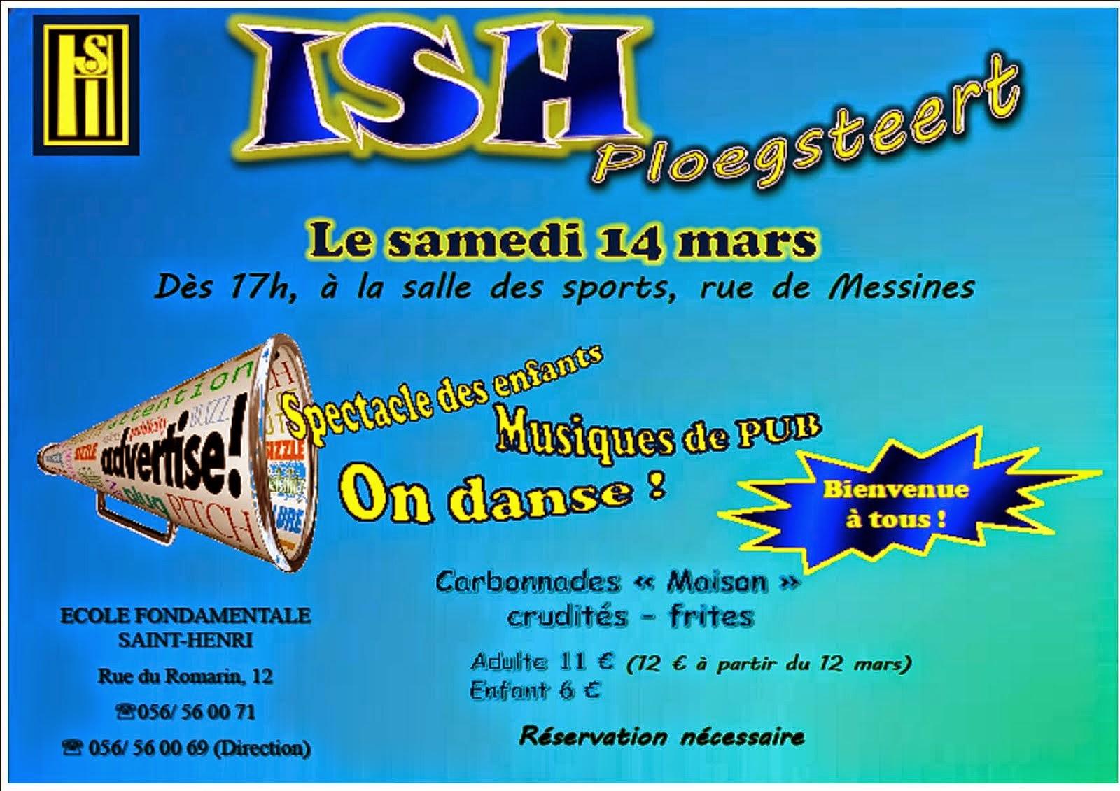 14 MARS REPAS Saint Henri Ploegsteert