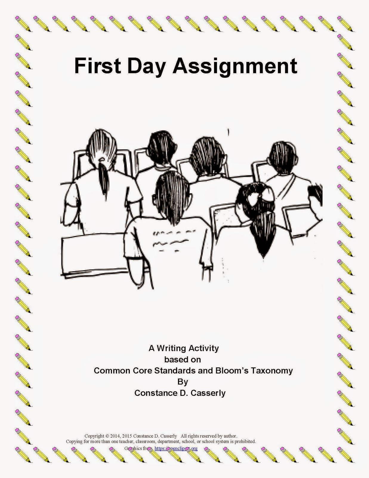 Middle School and High School First Day Writing Assignment