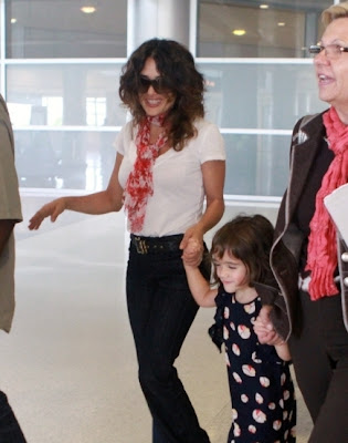 Salma Hayek and Daughter Valentina in Miami for premier of 'Puss in Boots'