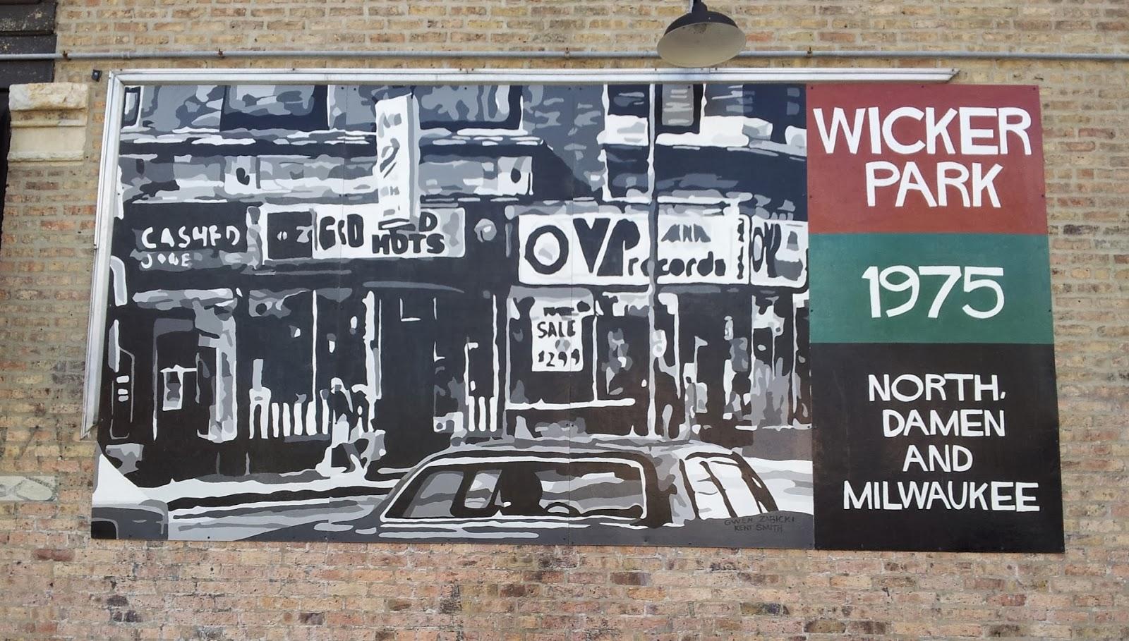Fair white frogman wicker park mural october 2013 for Mural in chicago illinois