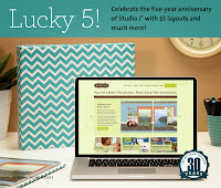 Lucky 5 with Studio J Online Scrapbooking in November