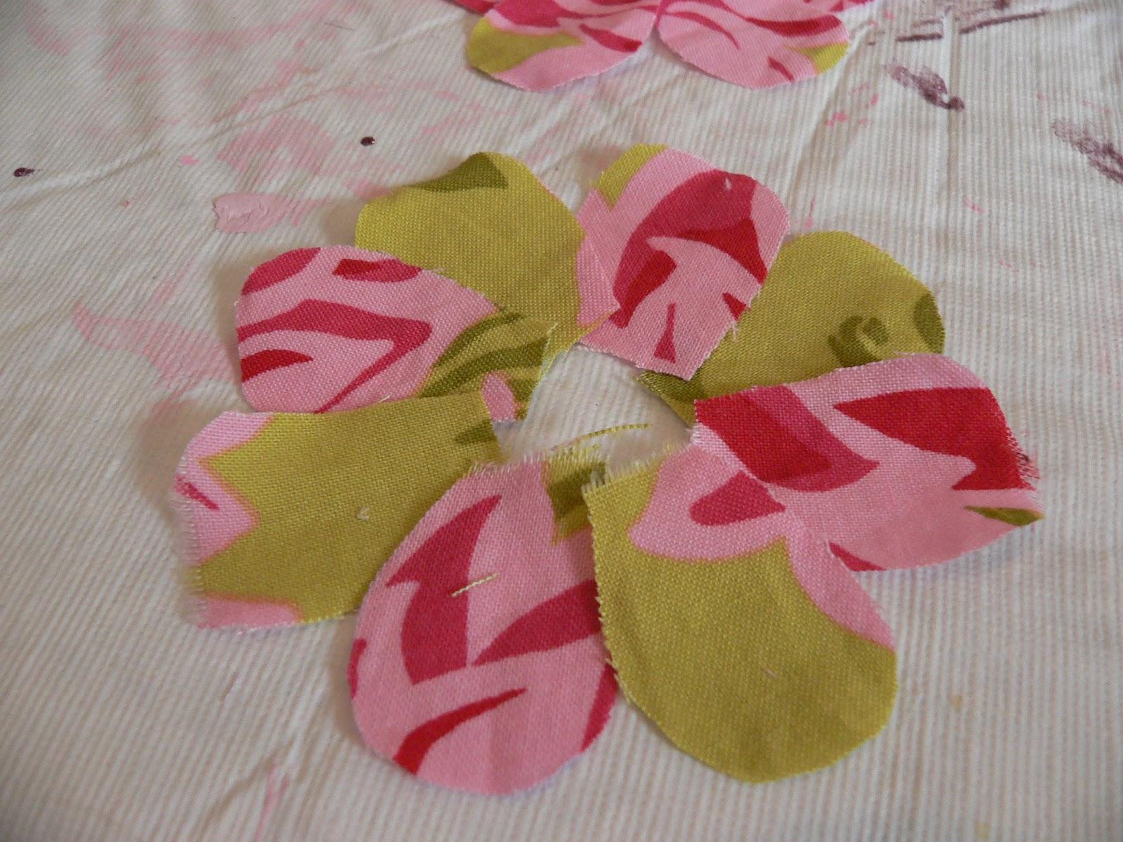 Fabric Flower Hair Clippie