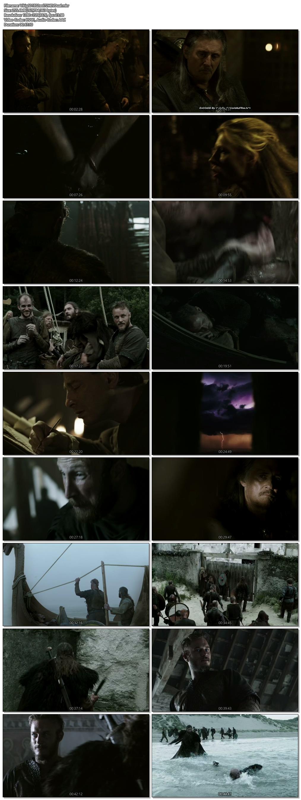 Screenshots Of Hindi Dubbed Show Vikings 2013 Season 01 Episode 02 300MB 720P HD