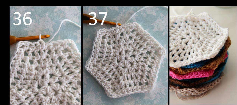 Crochet Basic Stitches Tutorial : creJJtion: Crochet hexagon tutorial