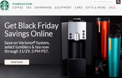 Starbucks Black Friday Savings Online