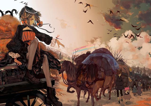 anime girl,anime scenery,mangaka