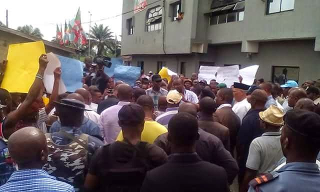 Photos from the mass protest that took place in Akwa-Ibom 3