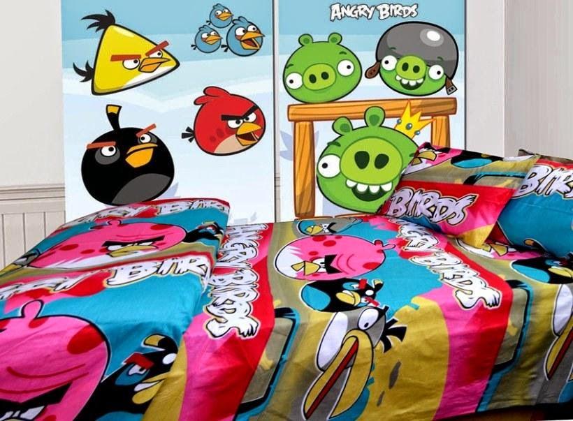 Desain kamar tidur anak angrybirds