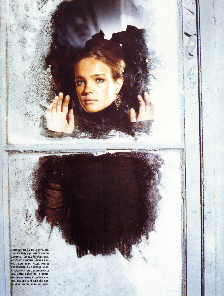 Natalia Vodianova in The Splendid Allure / Vogue Italia October 2002 (photography: Ellen von Unwerth)