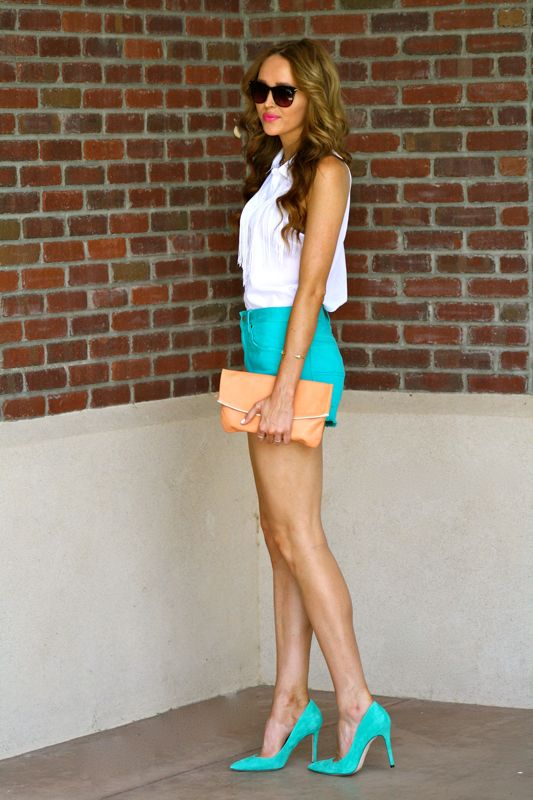 Colored Cut Off Shorts | Golden Divine Blog