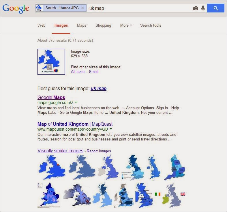 Google Image Search matched the UK map image