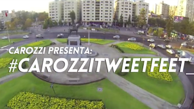 Carozzi creó una máquina que te permite twittear y postear con los pies