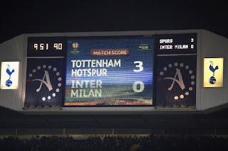 Hasil Pertandingan Tottenham Hotspur Vs Inter Milan