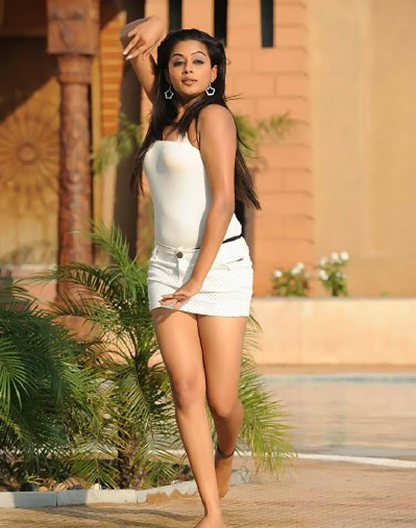 Priyamani Hot Posing Wallpapers by Swimming Pool